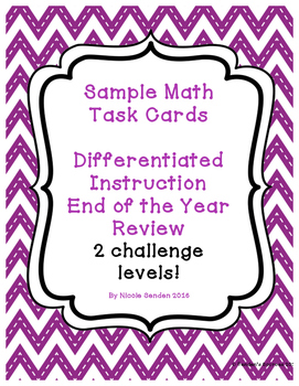 Differentiated Second Grade Math Review Challenge Level Ta