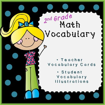 Second Grade Math Vocabulary-EDITABLE!