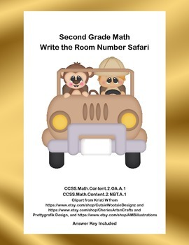 Second Grade Math-Write the Room Number Safari-CCSS