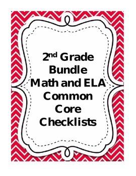Second Grade Math and Language Arts Common Core Checklist