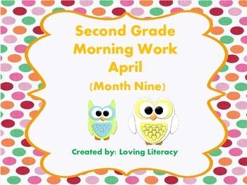 Second Grade Morning Work April