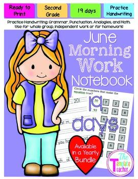 Second Grade Morning Work - Do Now - June