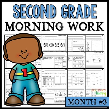 Month #3 Morning Work: Second Grade Morning Work