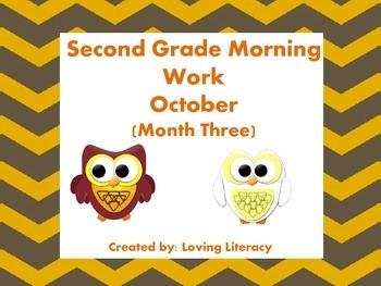 Second Grade Morning Work October