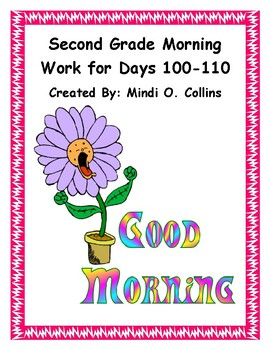 Second Grade Morning Work for Days 100-110