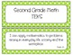 Second Grade Newly Revised Math TEKS~ Lime Green