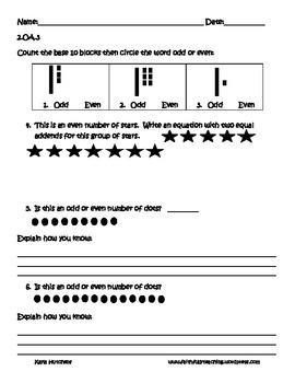 Second Grade OA Assessment Pack