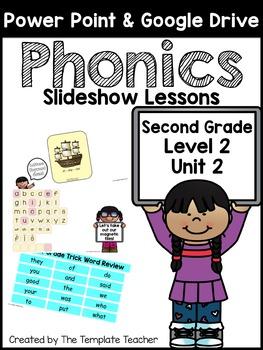 Second Grade Phonics Slideshow Lessons - Unit 2 Week 1 Days 4 - 6