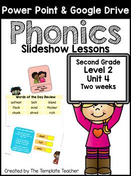 Second Grade Phonics Slideshow Lessons Unit 4 Week 2