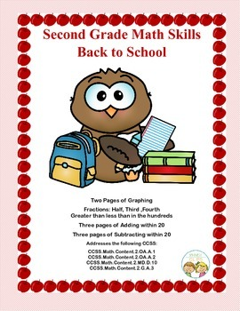 Second Grade Practice-Back-to-School Math Worksheets that