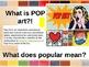 Second Grade Presentation for Pop Art Cupcakes