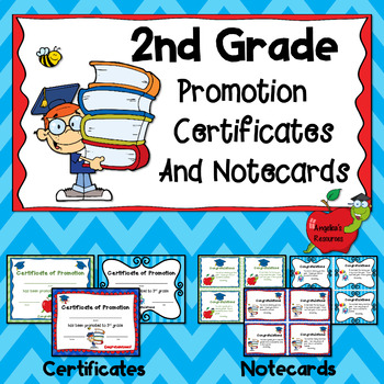 End of the Year Awards: 2nd Grade Promotion Certificates a