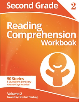 Second Grade Reading Comprehension Workbook - Volume 2 (50