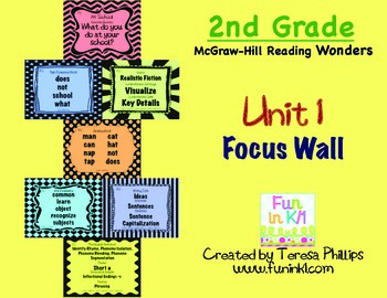 Second Grade Reading Focus Wall supports Unit 1 McGraw Hil