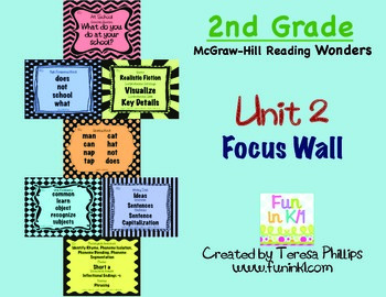 Second Grade Reading Focus Wall supports Unit 2 McGraw Hil