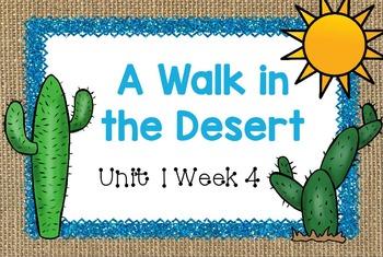Second Grade Reading Street - A Walk in the Desert - Unit