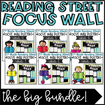 Second Grade Reading Street Focus Wall Posters BUNDLED - U