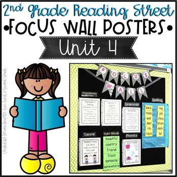 Second Grade Reading Street Focus Wall Posters - Unit 4