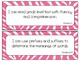 Second Grade Reading TEKS~ Pink Zebra