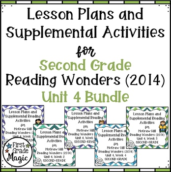 Second Grade Reading Wonders UNIT 4 Bundle
