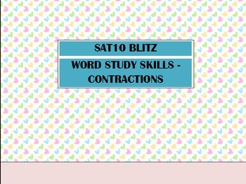 Second Grade SAT10 Test Preparation - Word Study Skills Co