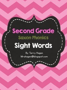 Second Grade Saxon Phonics Sight Words