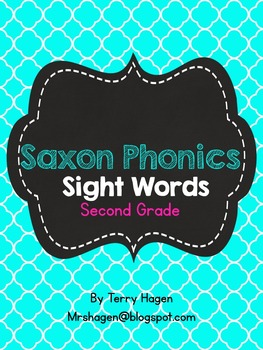 Second Grade Saxon Phonics Sight Words Quatrefoil Edition