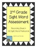 Second Grade Sight Word Assessment