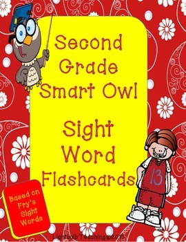 Second Grade Sight Word Flash Cards