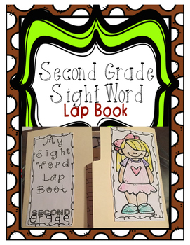 Second Grade Sight Word Lap Book