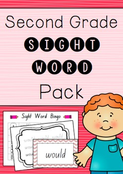 """""""Second Grade"""" Sight Word Pack"""