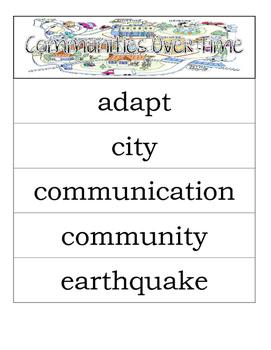 Second Grade Social Studies - Communities Over Time - Word