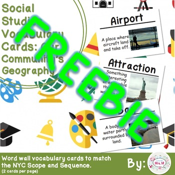 2nd Grade Social Studies Vocabulary Cards: Our Community's