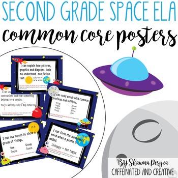Second Grade Space Theme ELA Common Core Posters