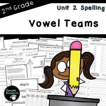 Second Grade Spelling-Unit 2 (over 100 editable items, Com