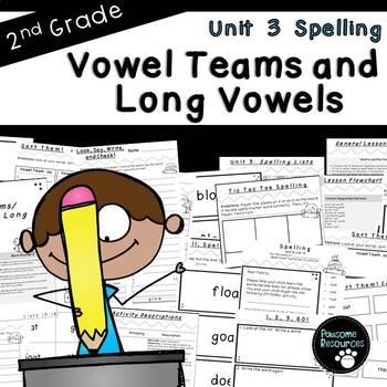Second Grade Spelling-Unit 3 (over 100 editable items, Com