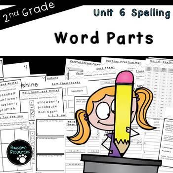 Second Grade Spelling-Unit 6 (over 100 editable items, Com