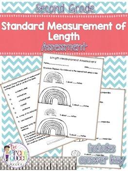 Second Grade Standard Units of Measurement Assessment