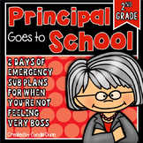 Second Grade Sub Plans for Anytime Principal Themed