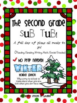 Second Grade Sub Tub Winter Wonderland