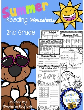 Second Grade Summer Reading Review Packet