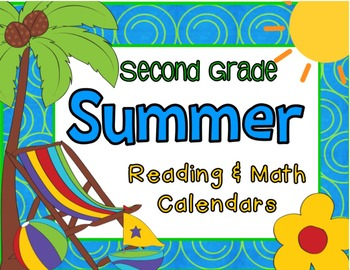 Second Grade Summer Reading and Math with June & July 2015