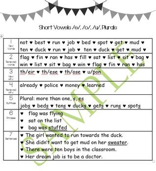Second Grade Toughie Chart Phonics and Grammar – 8 – Long