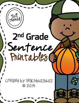 2nd Grade Sentence Printables: Fall Themed