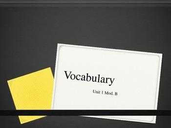 Second Grade Vocabulary