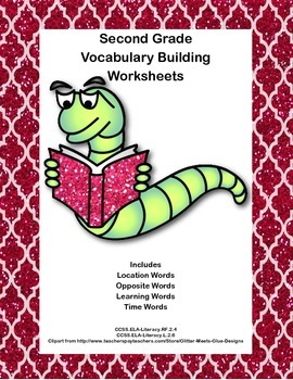 Second Grade Vocabulary Building Worksheets