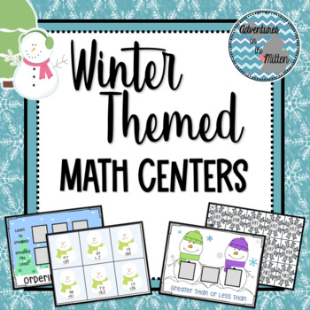 Second Grade Math Centers - Winter Themed