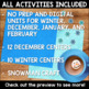 Winter and Holidays Bundle for Second Grade