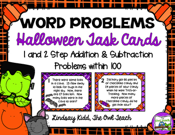 #spookydeals Second Grade Word Problems:  Halloween Set