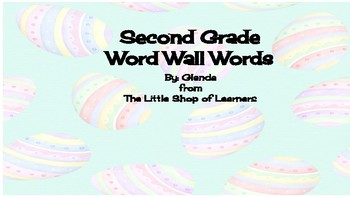 Second Grade Word Wall Words